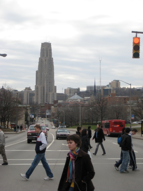 Cathedral of Learning, walking to the game