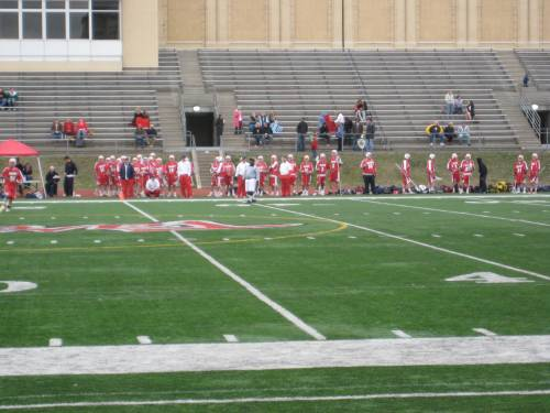 45+ on the sideline for Dayton, impressive numbers for MCLA D2
