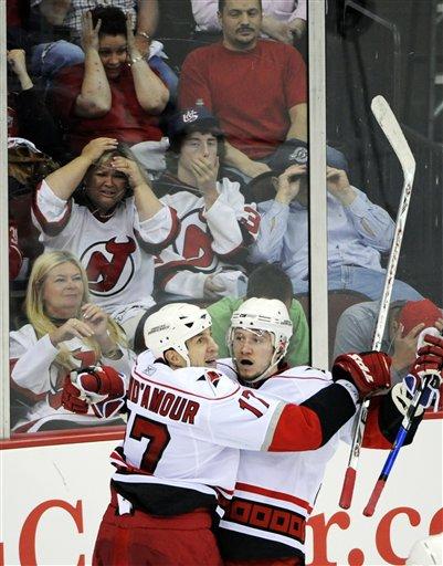 APTOPIX Hurricanes Devils Hockey